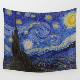 The Starry Night by Vincent van Gogh (1889) Wall Tapestry