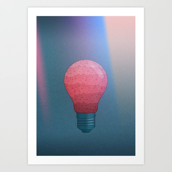 Candy Lightbulb Art Print