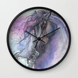 Purple Horse Wall Clock