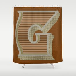 BOLD 'G' DROPCAP Shower Curtain
