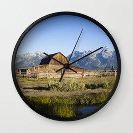 Mormon Row Grand Tetons Wall Clock