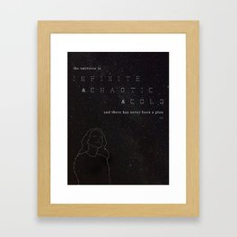 Infinite & Chaotic & Cold Framed Art Print