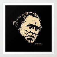 bukowski Art Prints featuring Bukowski#! by f_e_l_i_x_x