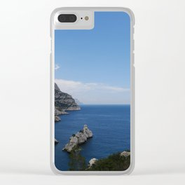 Cliff/Marseille/Calanque Clear iPhone Case