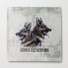 German Shepherd Dog - Grunge Digital Art Metal Print