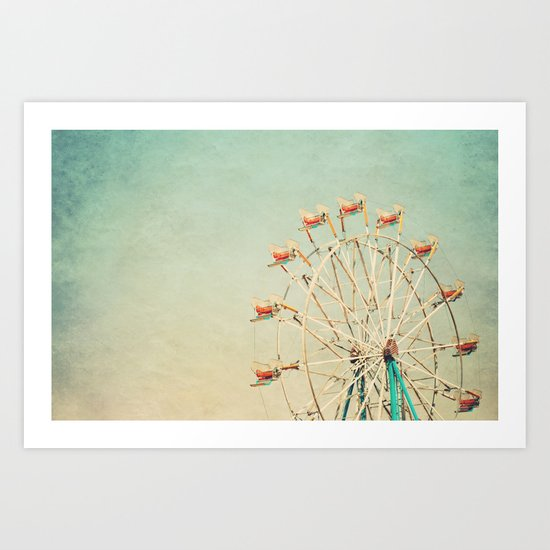 """""""I see nothing in space as promising as the view from a Ferris wheel."""" Art Print"""