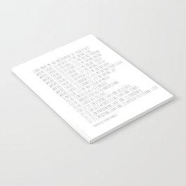 Prayer of Saint Francis #minimalism #prayerofpeace Notebook