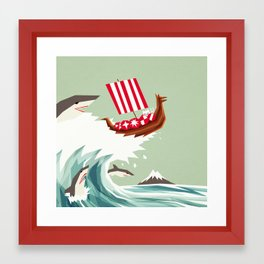 Sharkwave Framed Art Print