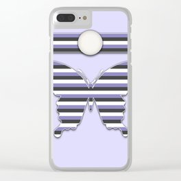 Buttery in Stripes Purple Animal Design Pattern Clear iPhone Case