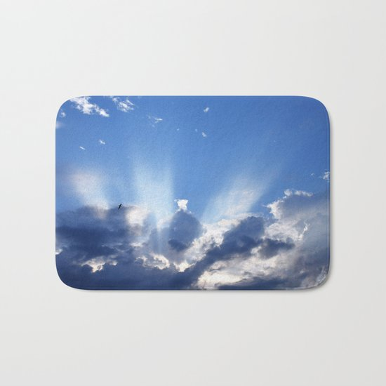 Cloudy Sky Bath Mat