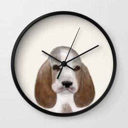 little basset hound Wall Clock