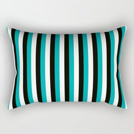 Team Colors 4... teal , black Rectangular Pillow