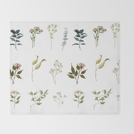 Delicate Floral Pieces Throw Blanket