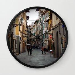 Via Faenza - Florence, Italy Wall Clock