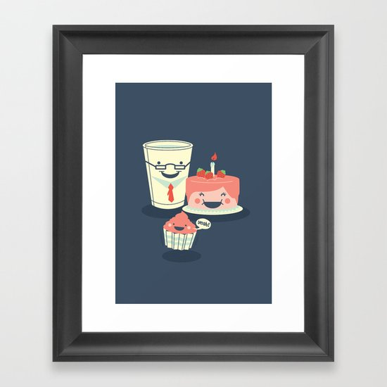 Oh! my sweet little cupcake. Framed Art Print