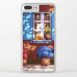 Little Provencal Nap Clear iPhone Case