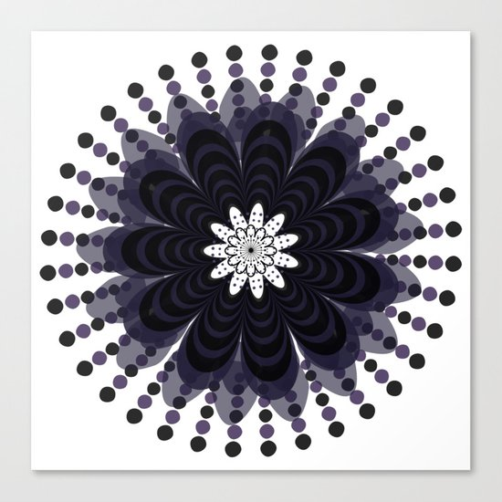 Graphic Mandala Flower Lilac Canvas Print