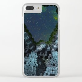 Fractalized Void Clear iPhone Case