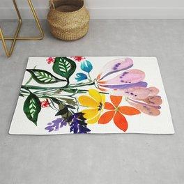 Loose Big Watercolor Flowers Rug