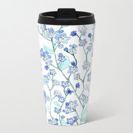 forget-me-not Metal Travel Mug