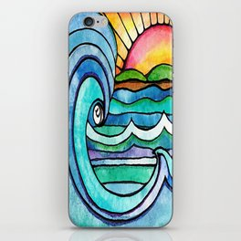 Beachy #society6 #spring #summer iPhone Skin