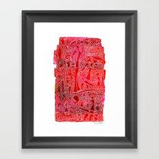 Single Fin Saturday  Framed Art Print