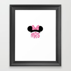 Mrs Minnie Framed Art Print
