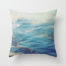 Fisherman in the distance, Mauritius II Throw Pillow