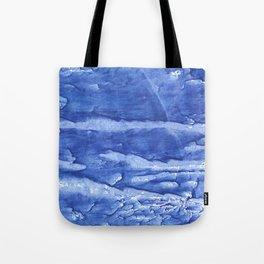 Steel blue vague watercolor painting Tote Bag
