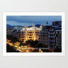 Barcelona. La Pedrera Art Print