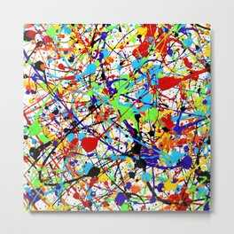 Splat! 1 (Rainbow) Metal Print