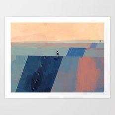 Keep Going - Blue Edition Art Print