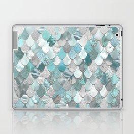 Mermaid Aqua and Grey Laptop & iPad Skin