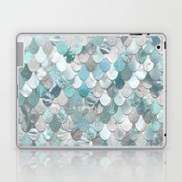 Mermaid Aqua and Grey Laptop & iPad Skin