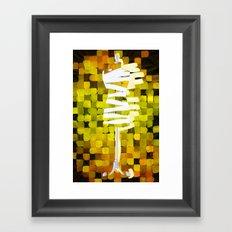 Dummy Run #1, yellow Framed Art Print