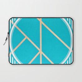 Leaf - circle/line graphic Laptop Sleeve