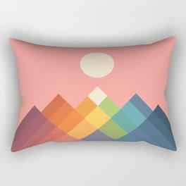 Rainbow Peak Rectangular Pillow