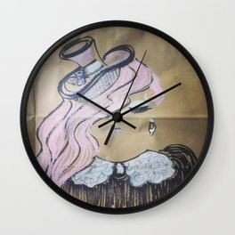 Pink Ladies: Fascinator Wall Clock