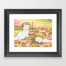 Filles en ville Framed Art Print