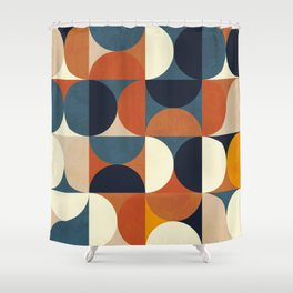 mid century abstract shapes fall winter 1 Shower Curtain