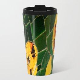 Photograph Yellow and Green Spanish Tile Mosaic Travel Mug