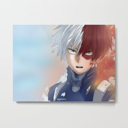 My Hero Academia - Todoroki Shouto (colouring) Metal Print