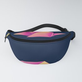 Paper folded, neon origami pink mouse or rat design Fanny Pack