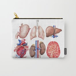 Watercolor organs Carry-All Pouch