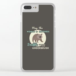 Wombat of Happiness Clear iPhone Case