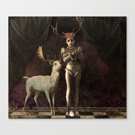 i love you deerly Canvas Print