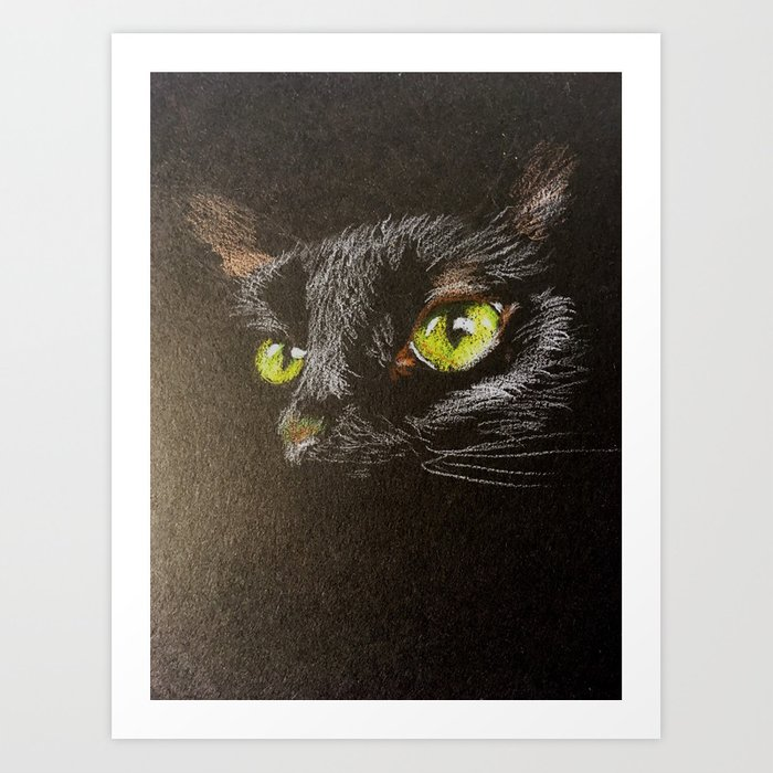 Black cat 1 Art Print