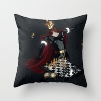 chess Throw Pillows featuring Chess by Guilherme Marconi
