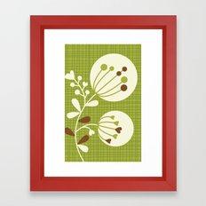 Retro Lime Bouquet Framed Art Print