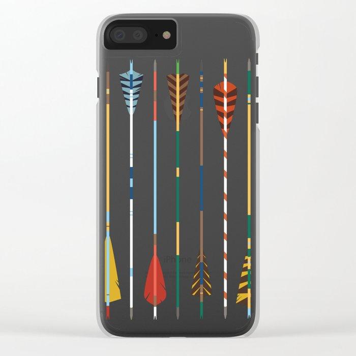 Vintage Arrows Clear iPhone Case